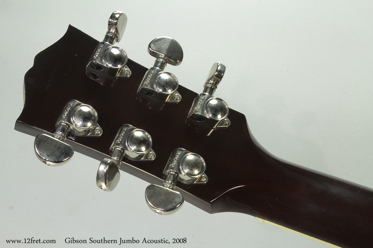 Gibson Southern Jumbo Acoustic, 2008  Head Rear View