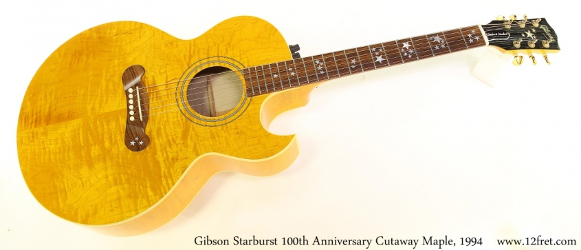 Gibson Starburst 100th Anniversary Cutaway Maple, 1994 Full Front View