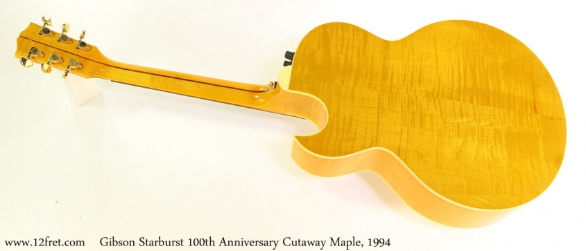 Gibson Starburst 100th Anniversary Cutaway Maple, 1994 Full Rear View