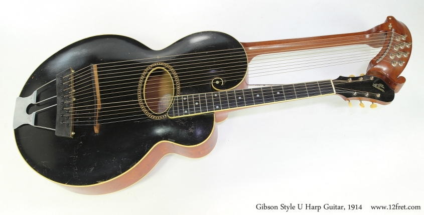 Gibson Style U Harp Guitar, 1914   Full Front View