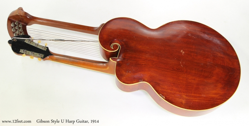 Gibson Style U Harp Guitar, 1914   Full Rear View