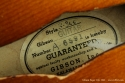 Gibson Super 300 1950 label