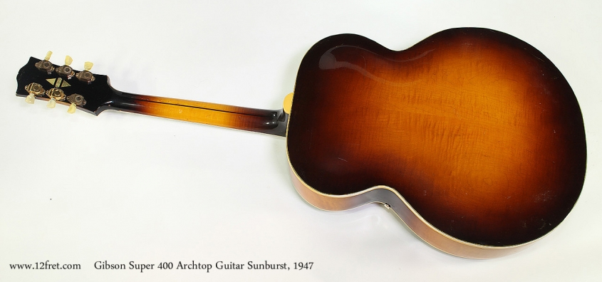 Gibson Super 400 Archtop Guitar Sunburst, 1947 Full Rear View