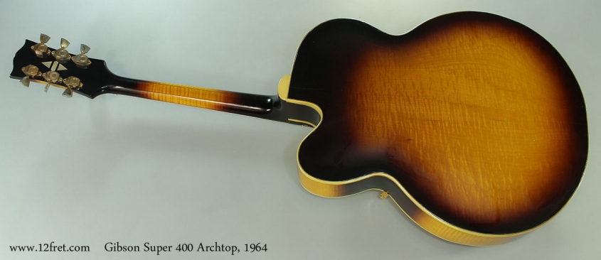 Gibson Super 400 Archtop, 1964 Full Rear View