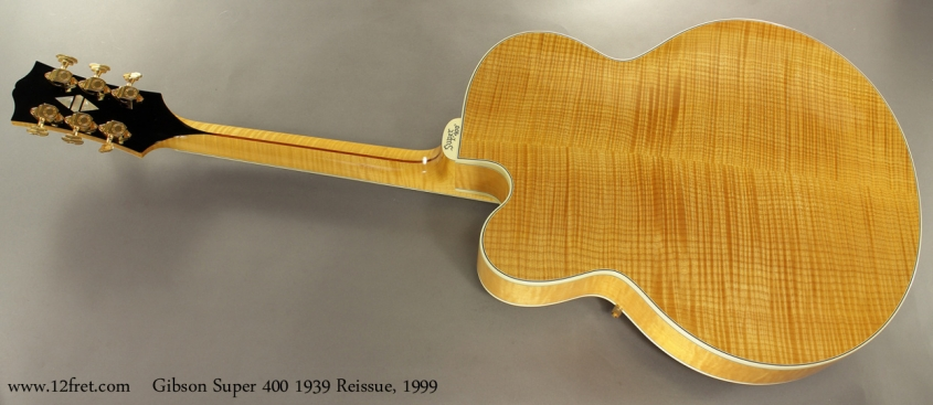 Gibson Super 400 1939 Reissue, 1999 full rear view