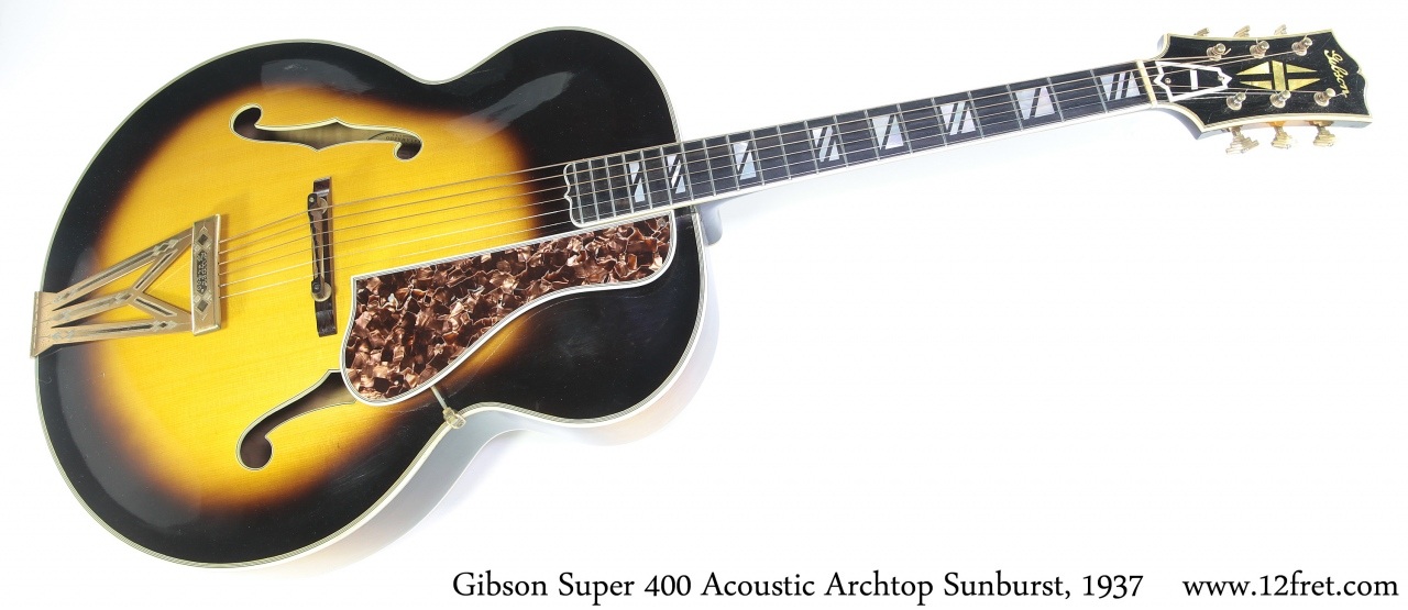 Gibson Super 400 Acoustic Archtop Sunburst, 1937 Full Front View