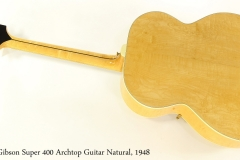 Gibson Super 400 Archtop Guitar Natural, 1948 Full Rear View