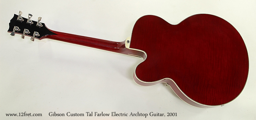 Gibson Custom Tal Farlow Electric Archtop Guitar, 2001 Full Rear View