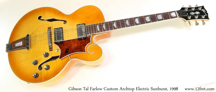 Gibson Tal Farlow Custom Archtop Electric Sunburst, 1998 Full Front View