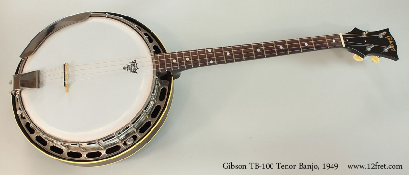 Gibson TB-100 Tenor Banjo, 1949 Full Front VIew