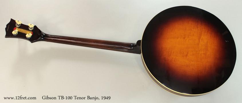 Gibson TB-100 Tenor Banjo, 1949 Full Rear VIew