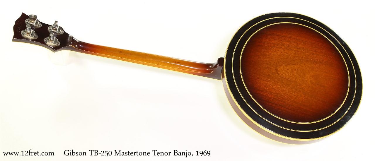 Gibson TB250 Mastertone Tenor Banjo, 1969 Full Rear View