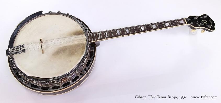 Gibson TB-7 Tenor Banjo, 1937 Full Front View