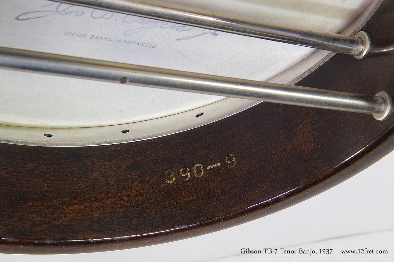 Gibson TB-7 Tenor Banjo, 1937 Rim Stamp