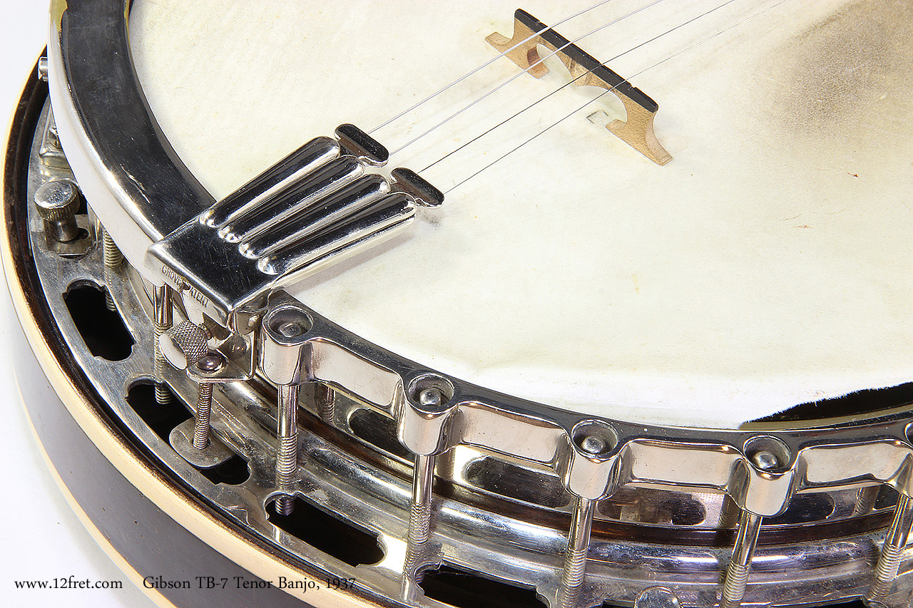 Gibson TB-7 Tenor Banjo, 1937 Tailpiece View