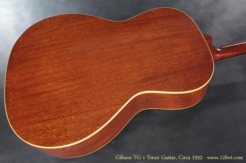 Gibson TG-1 Tenor Guitar CIrca 1932 back