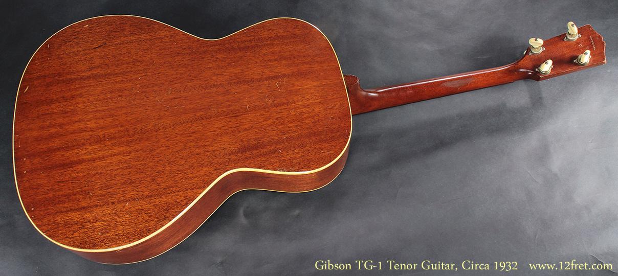 Gibson TG-1 Tenor Guitar CIrca 1932 full rear view