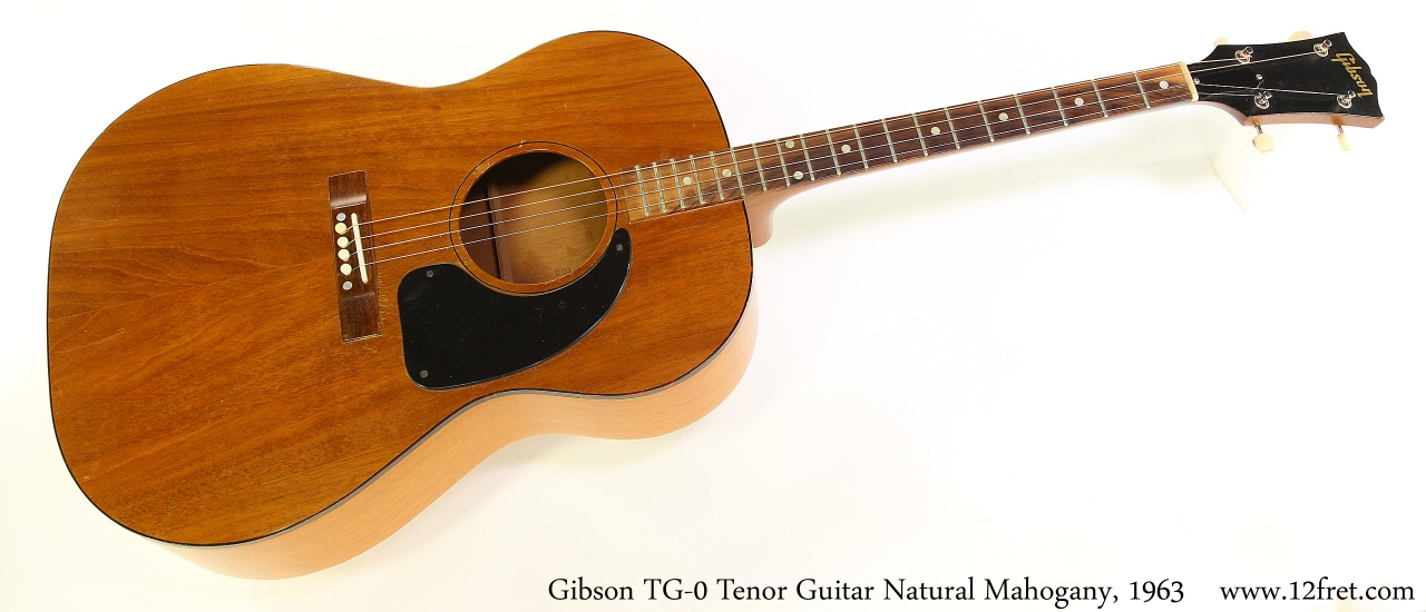 Gibson TG-0 Tenor Guitar Natural Mahogany, 1963 Full Front View