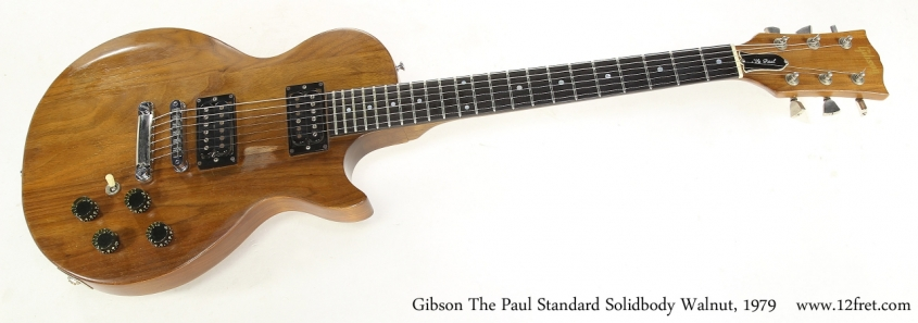 Gibson The Paul Standard Solidbody Walnut, 1979    Full Front View