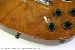 Gibson 'The SG' Walnut Solidbody Electric, 1979   Separation Top View