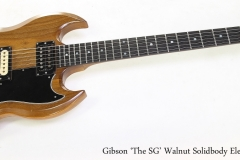 Gibson 'The SG' Walnut Solidbody Electric, 1979   Full Front View