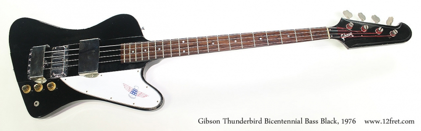Gibson Thunderbird Bicentennial Bass Black, 1976 Full Front View