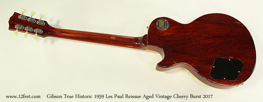 Gibson True Historic 1959 Les Paul Reissue Aged Vintage Cherry Burst 2017 Full Rear View