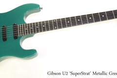 Gibson U2 'SuperStrat' Metallic Green, 1989 Full Front View