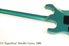 Gibson U2 'SuperStrat' Metallic Green, 1989 Full Rear View