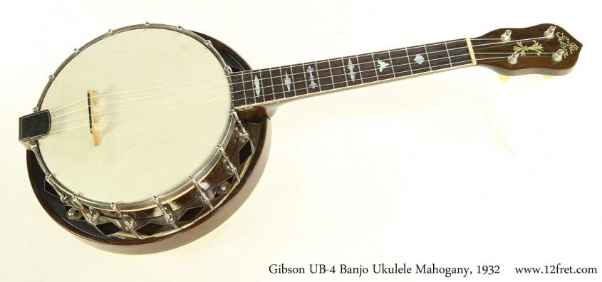Gibson UB-4 Banjo Ukulele Mahogany, 1932 Full Front View