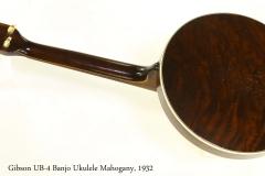 Gibson UB-4 Banjo Ukulele Mahogany, 1932 Full Rear View