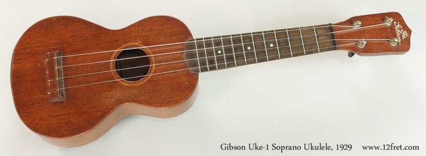 Gibson Uke-1 Soprano Ukulele, 1929 Full Front VIew