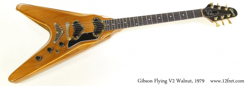 Gibson Flying V2 Walnut, 1979  Full Front View