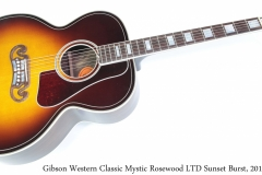 Gibson Western Classic Mystic Rosewood LTD Sunset Burst, 2015 Full Front View