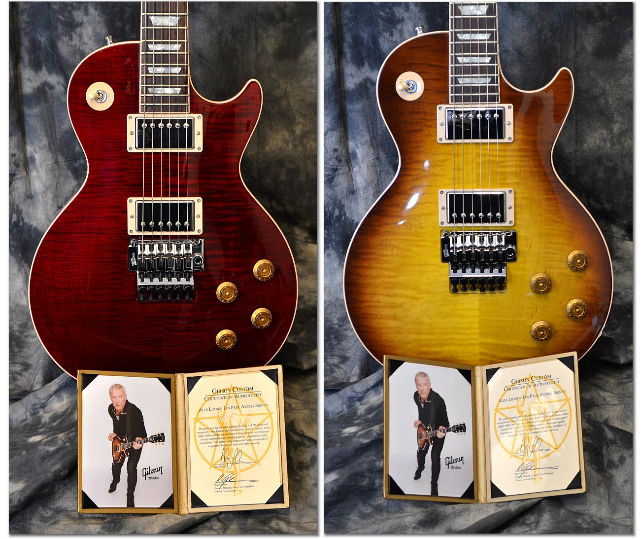 Gibson Hand Signed Alex Lifeson Les Paul Axcess Www12fretcom