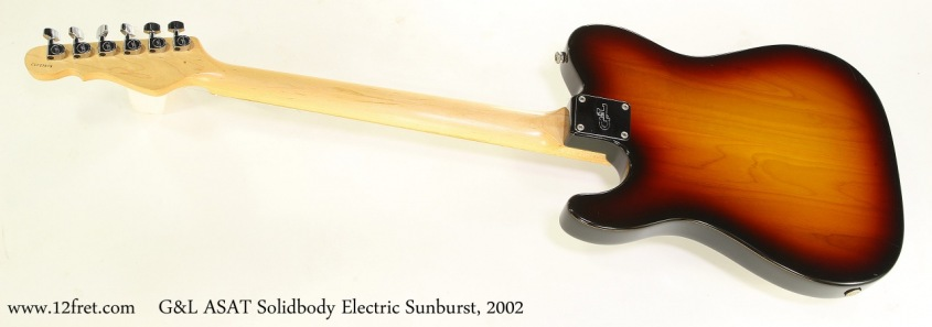 G&L ASAT Solidbody Electric Sunburst, 2002   Full Rear View