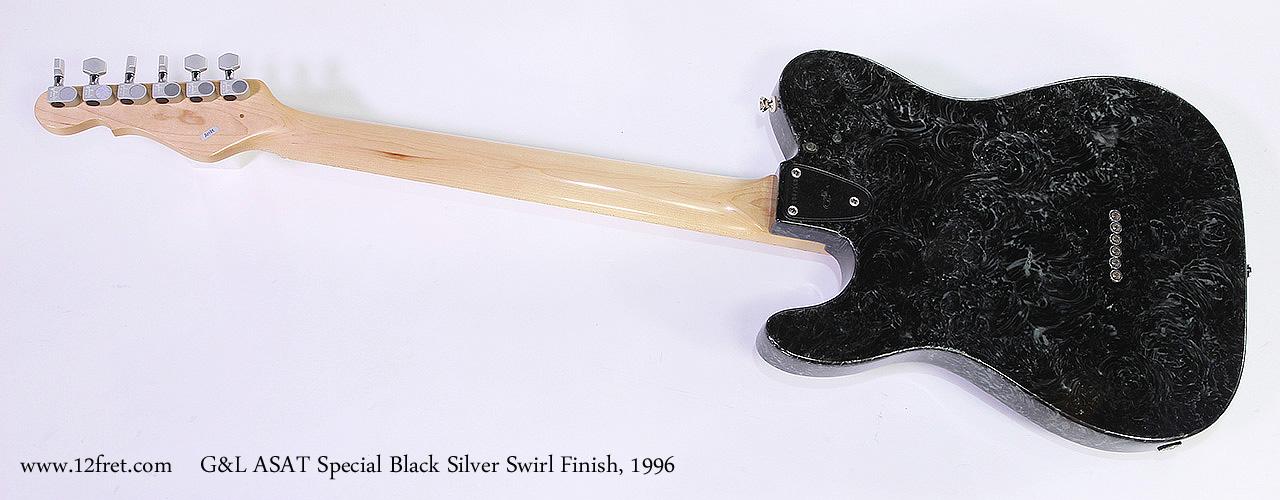 G&L ASAT Special Black Silver Swirl Finish, 1996 Full Rear View