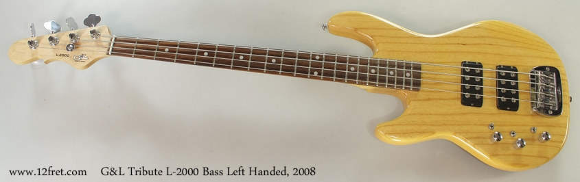 G&L Tribute L-2000 Bass Left Handed, 2008 Full Front View