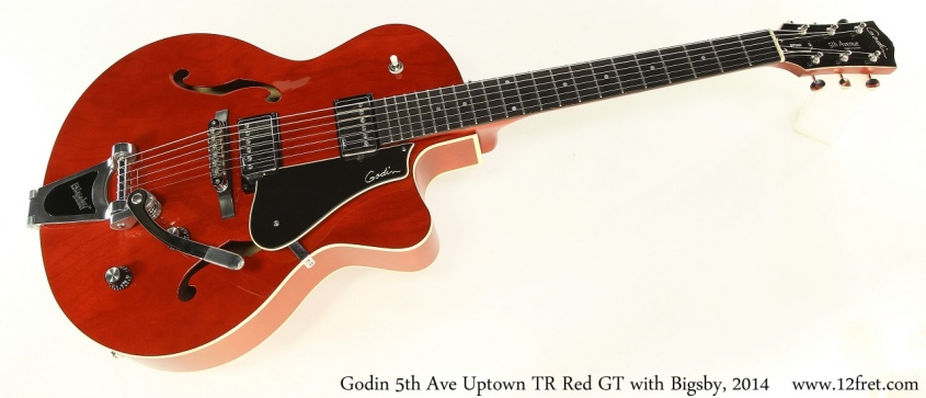 Godin 5th Ave Uptown TR Red GT with Bigsby, 2014 Full Front View