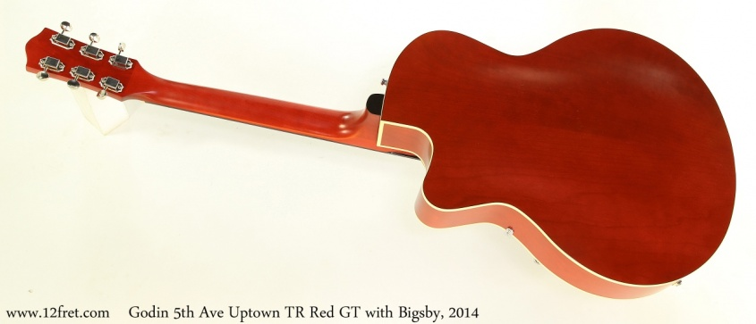 Godin 5th Ave Uptown TR Red GT with Bigsby, 2014 Full Rear View