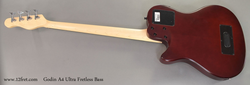 Godin A4 Ultra Fretless Bass full rear view