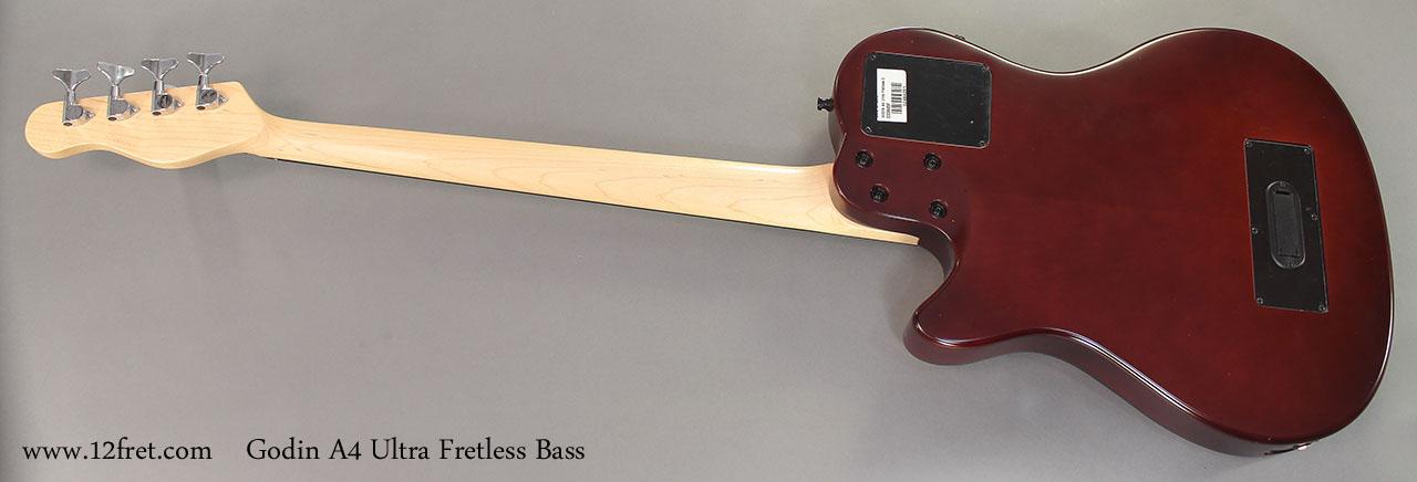 Godin A4 Ultra Fretless Bass full rear view