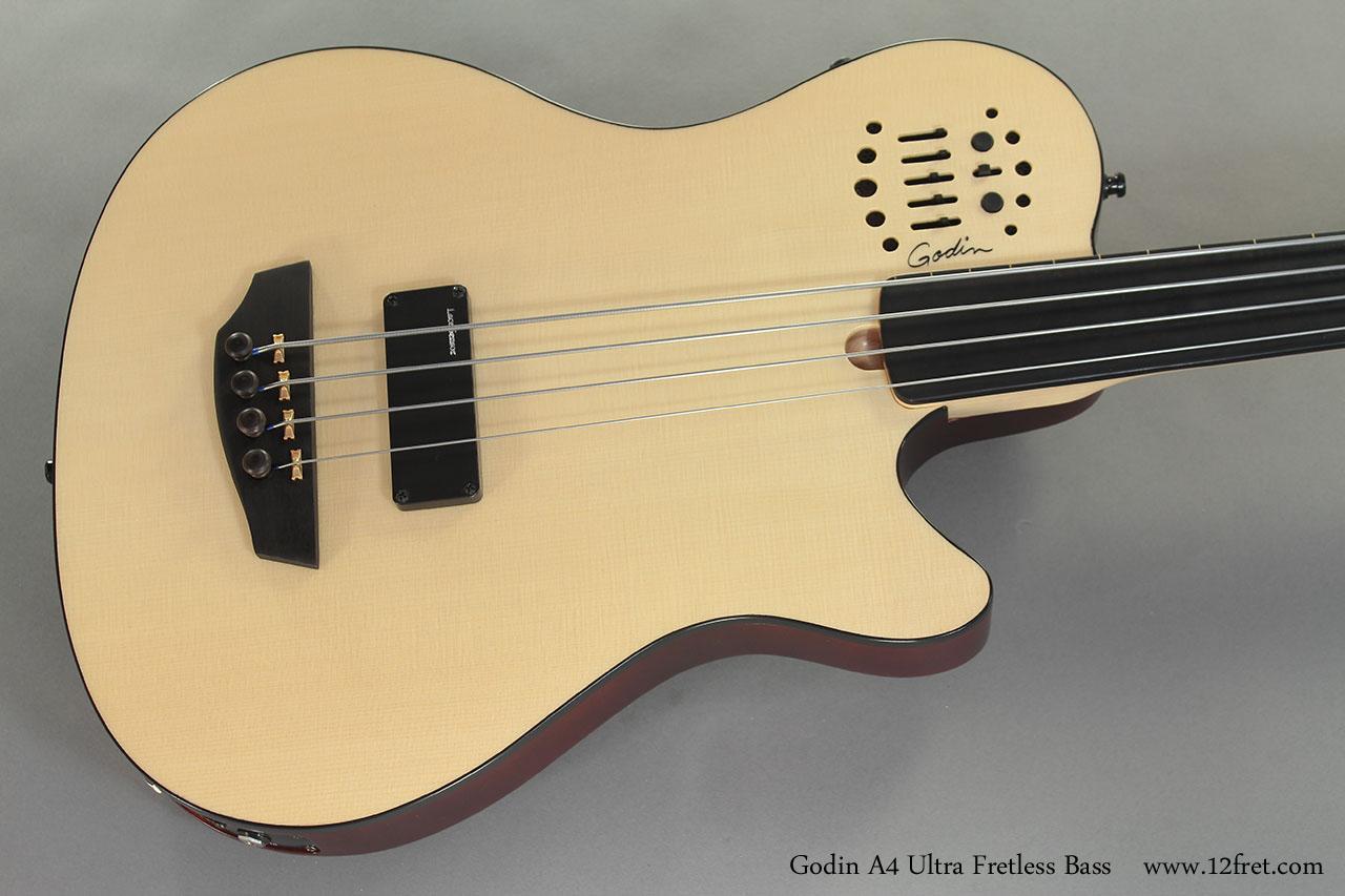Godin A4 Ultra Fretless Bass top