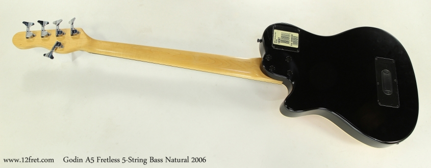 Godin A5 Fretless 5-String Bass Natural 2006  Full Rear View