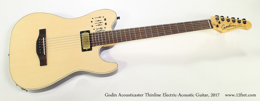 Godin Acousticaster Thinline Electric-Acoustic Guitar, 2017 Full Front View