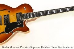 Godin Montreal Premiere Supreme Thinline Flame Top Sunburst, 2013 Full Front View