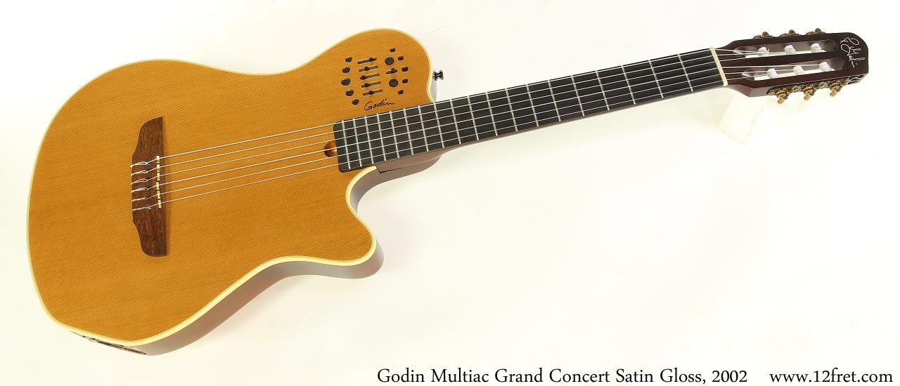 Godin Multiac Grand Concert Satin Gloss, 2002 Full Front View
