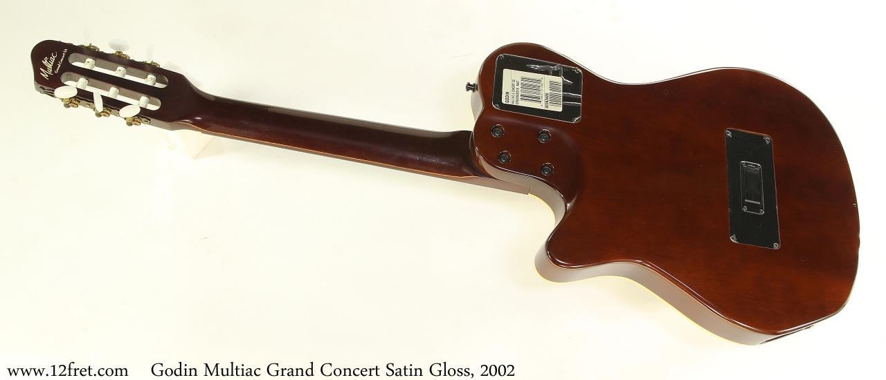 Godin Multiac Grand Concert Satin Gloss, 2002 Full Rear View
