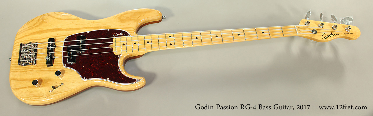 Godin Passion RG-4 Bass Guitar, 2017 Full Front View