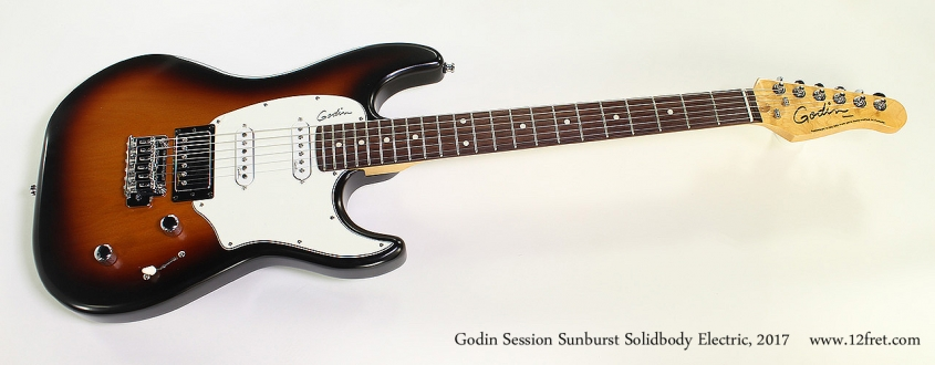 Godin Session Sunburst Solidbody Electric, 2017 Full Front View